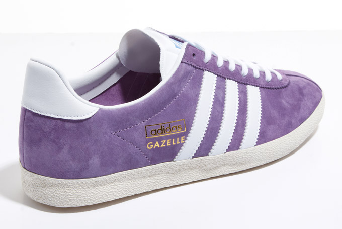 new style e2b02 c61bc Adidas Originals Gazelle Purple White