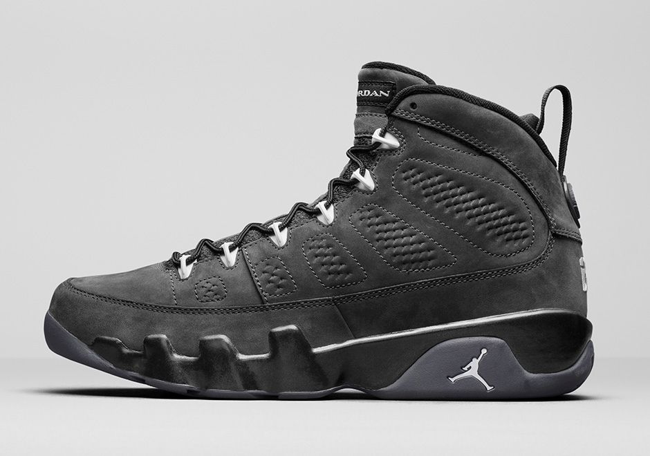 all black air jordan 9