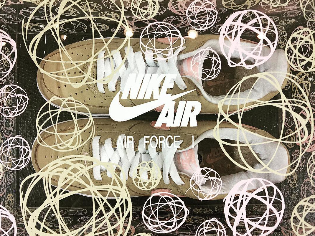 Linen Nike Air Force 1 Art Basel Box
