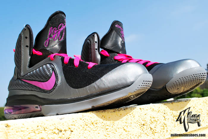 official photos 28483 be419 Nike LeBron 9 IX Miami Nights Cool Grey Vivid Grey Black Cherry 469764-002