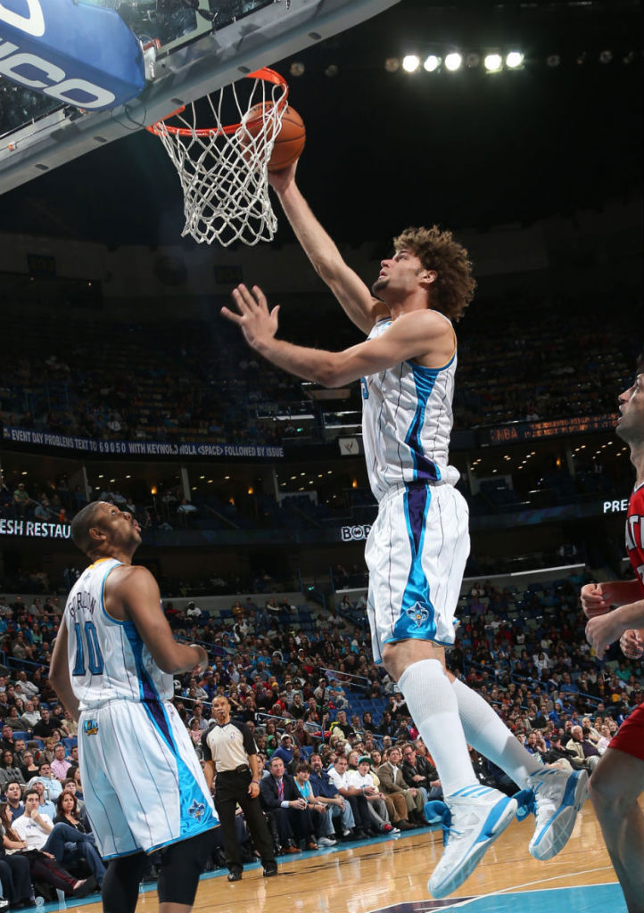 Robin Lopez wearing adidas Crazy Shadow