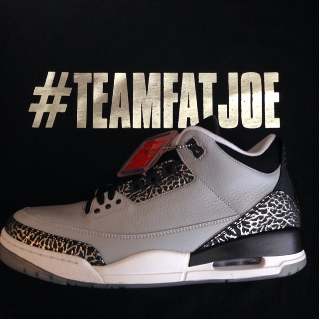 Fat Joe Picks Up Air Jordan III 3 Wolf Grey