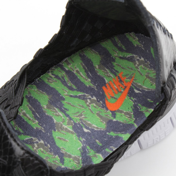 atmos x Nike Free Woven 4.0 QS black snake tiger camo sockliner