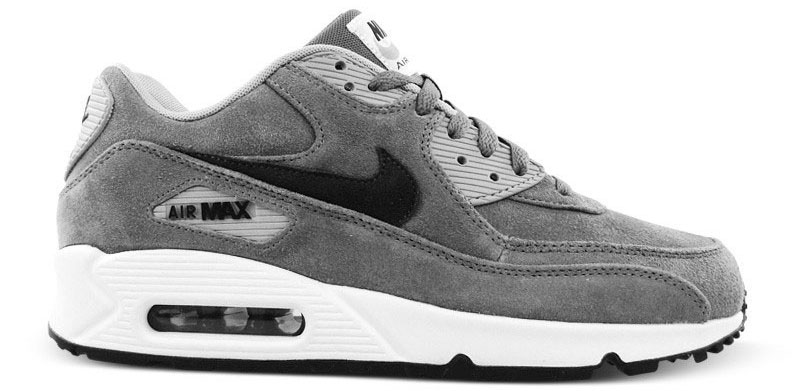 cheap for discount f5832 c30b7 Nike Air Max 90 Essential Leather PRM Cool Grey 666578-002 (1)