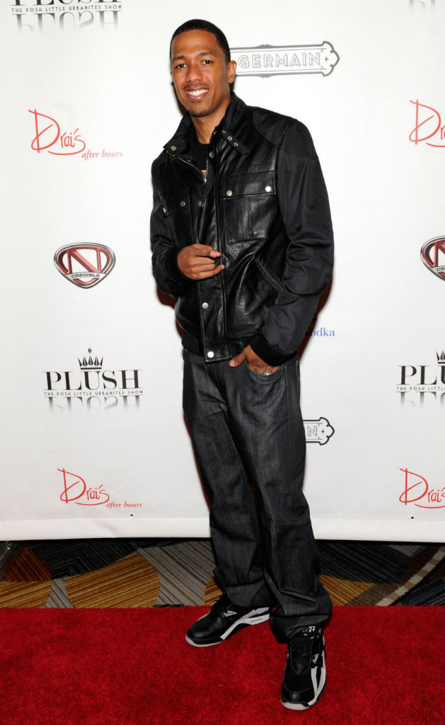 Nick Cannon wearing Nike Air Trainer SC High Raiders