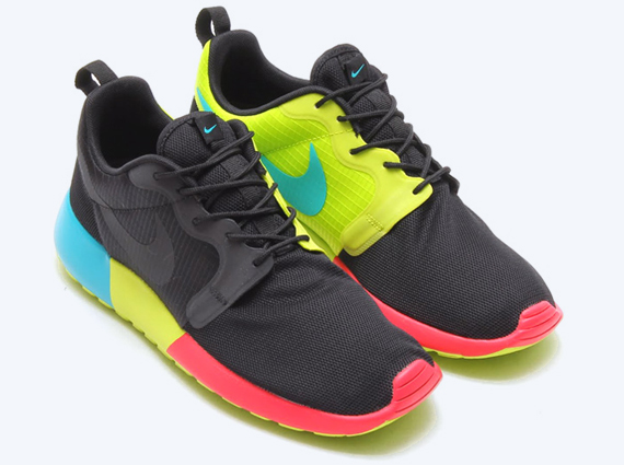 mens nike roshe run hyp all yellow