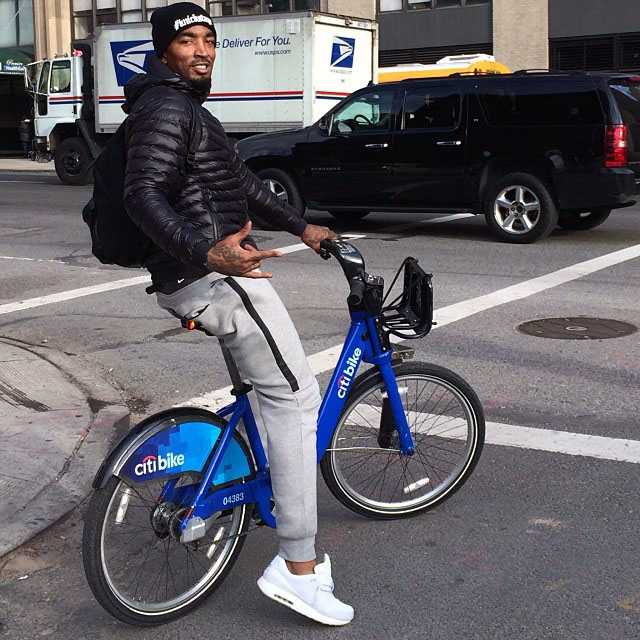 J.R. Smith wearing Nike Air Max 1