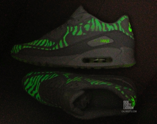 nike wmns air max 90 cmft prm tape glow in the dark