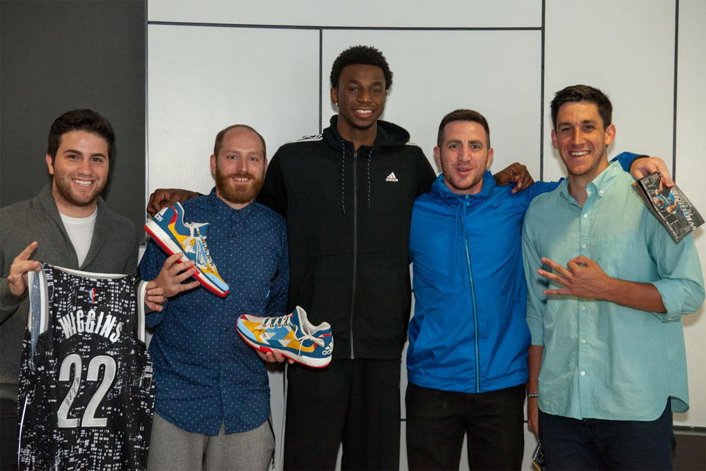 Andrew Wiggins Is Already Testing His adidas Sneakers for