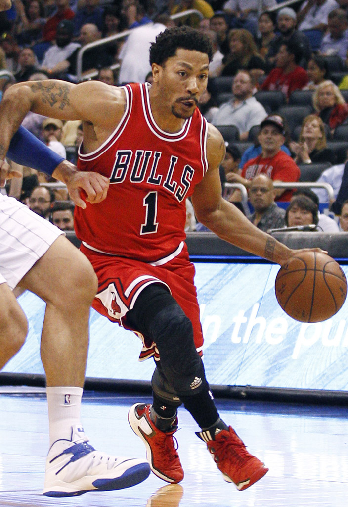 sports shoes fec54 c5bab Derrick Rose wearing the adidas D Rose 5 Boost Brenda (1)