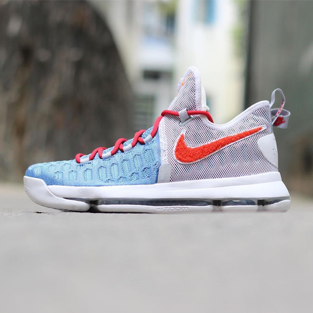 Nike KD 9 Texas Longhorns Chenille PE Side ff1262c11