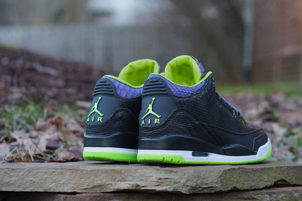 Air Jordan 3 Shark + Python + Kangaroo 'Joker' by JBF Customs (2)