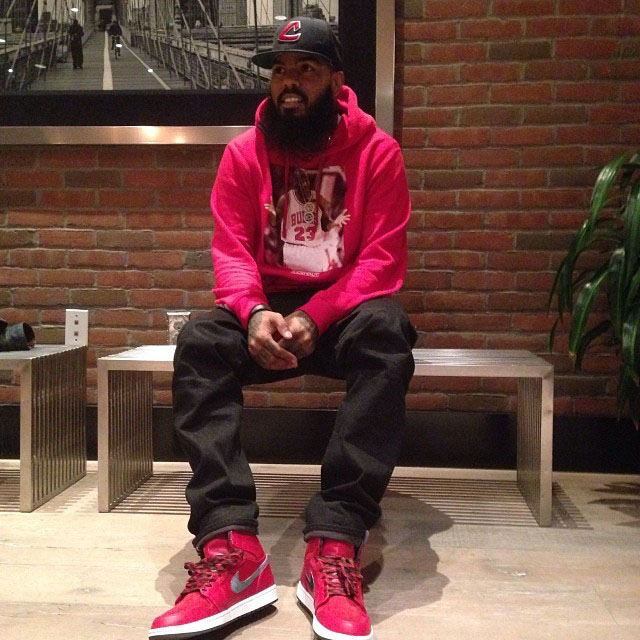 Stalley wearing Air Jordan 1 Retro Hi Premier