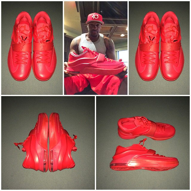 Nike KD VII 7 Red Leather Snakeskin (1)
