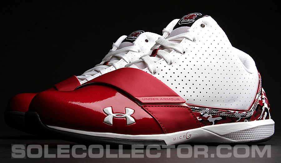 university  south carolina  armour micro  black ice pes sole collector