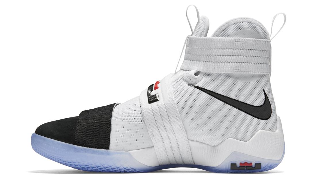 80766da631c7 Nike Zoom LeBron Soldier 10 Black Toe Medial 844378-102