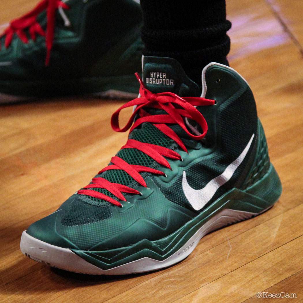 Sole Watch // Up Close At Barclays for Nets vs Bucks - OJ Mayo wearing Nike Zoom Hyperdisruptor