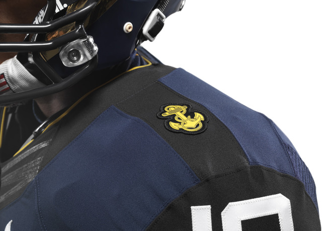 114th Army Navy Game Navy Nike Uniform details