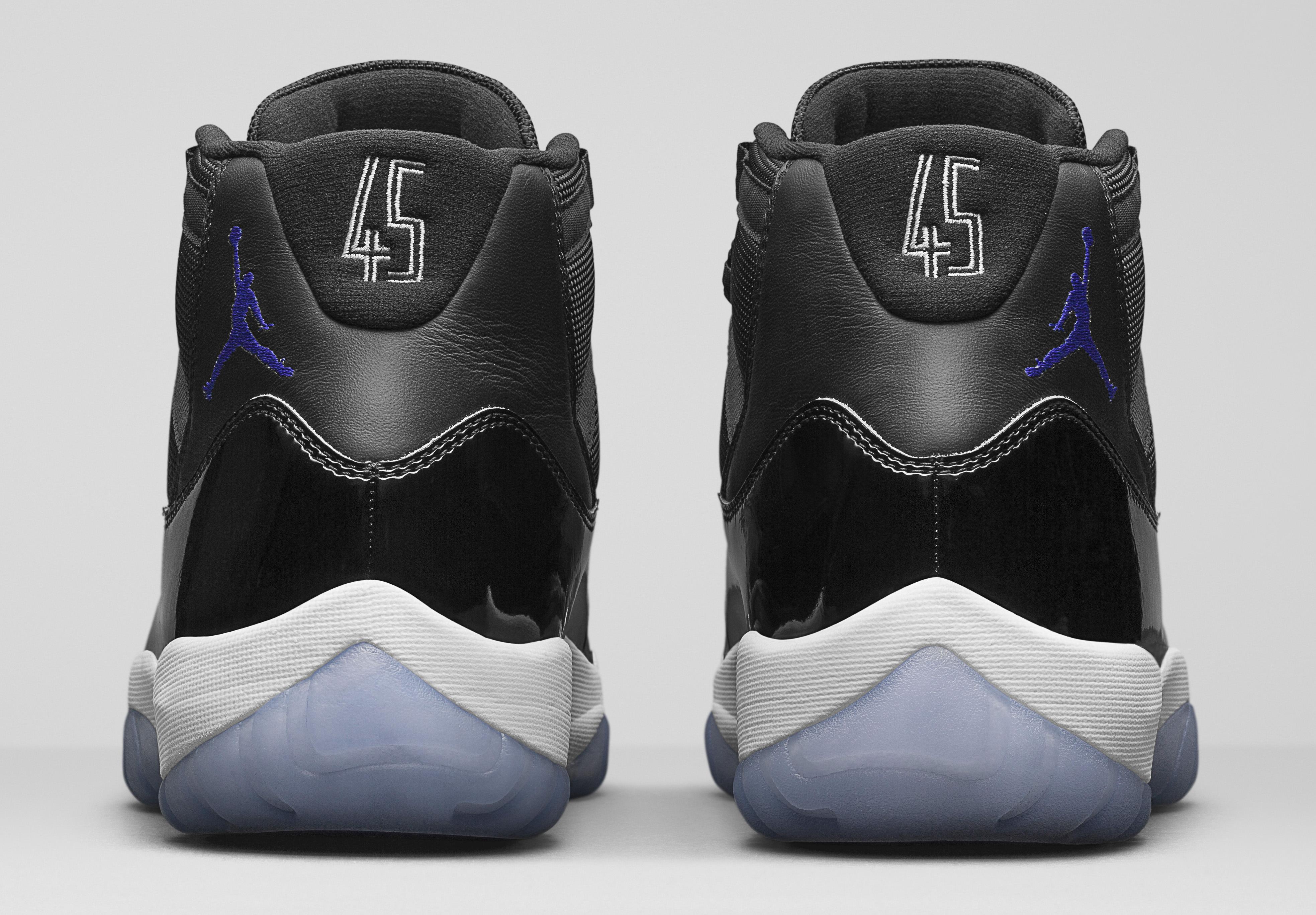 Image via Nike Jordan 11 Space Jam Heel