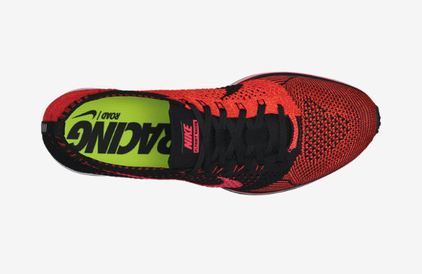 Nike Flyknit Racer in Black / Laser Crimson / Total Orange Top