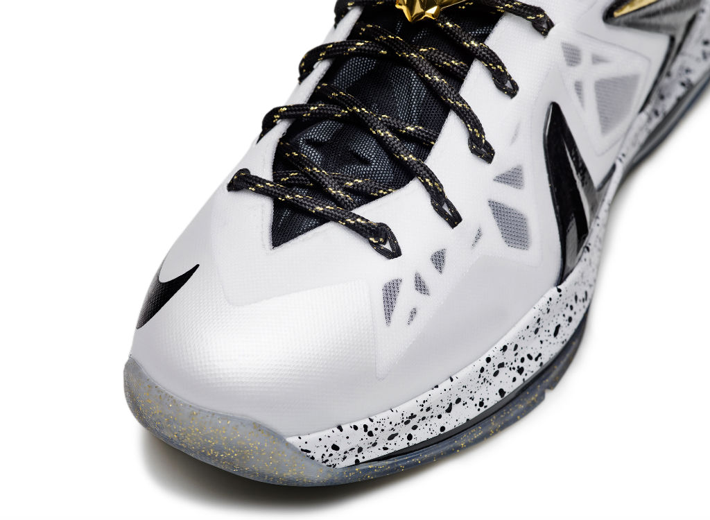 Nike LeBron X PS Elite+ White Gold (2)