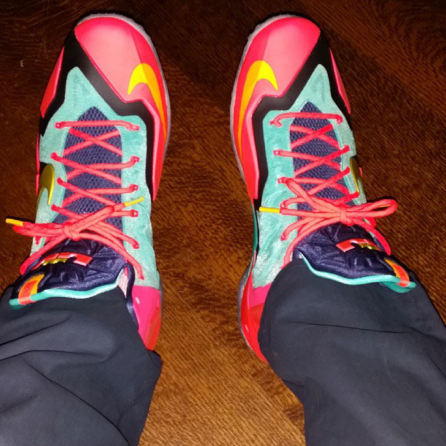 LeBron James 1-of-1 Multicolor Nike LeBron 11