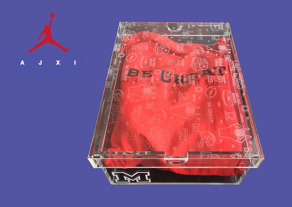 Charles Woodson Custom Space Jam Air Jordan 11 Box