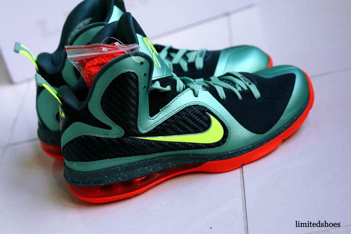 new concept 2ed7d 6d82b Nike LeBron 9 Cannon Volt Slate Blue Team Orange 469764-004 13