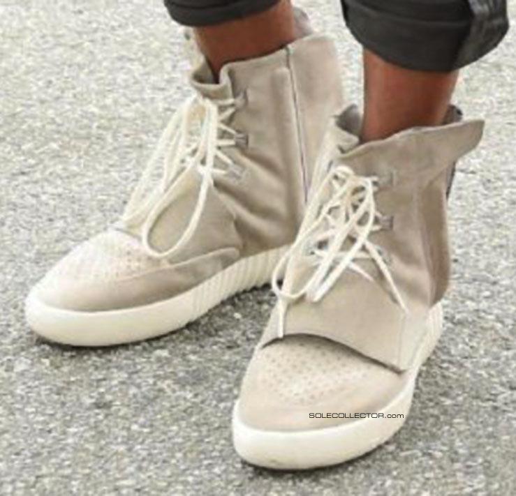 kanye west seen wearing his adidas yeezy sneakers sole