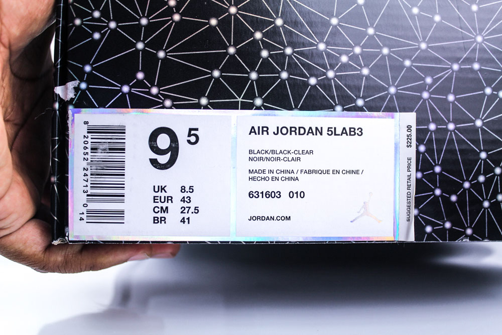 Air Jordan 5Lab3 Black Unboxed 631603-010 (1)
