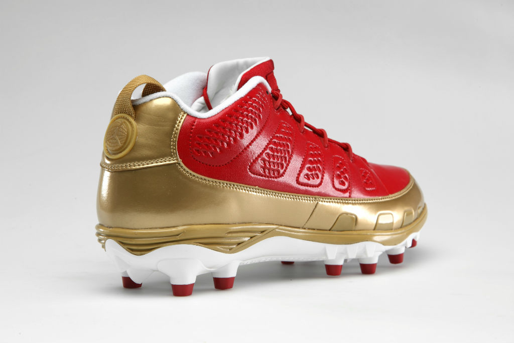 Air Jordan Retro IX 9 Cleats for Team Jordan - Michael Crabtree 49ers (2)