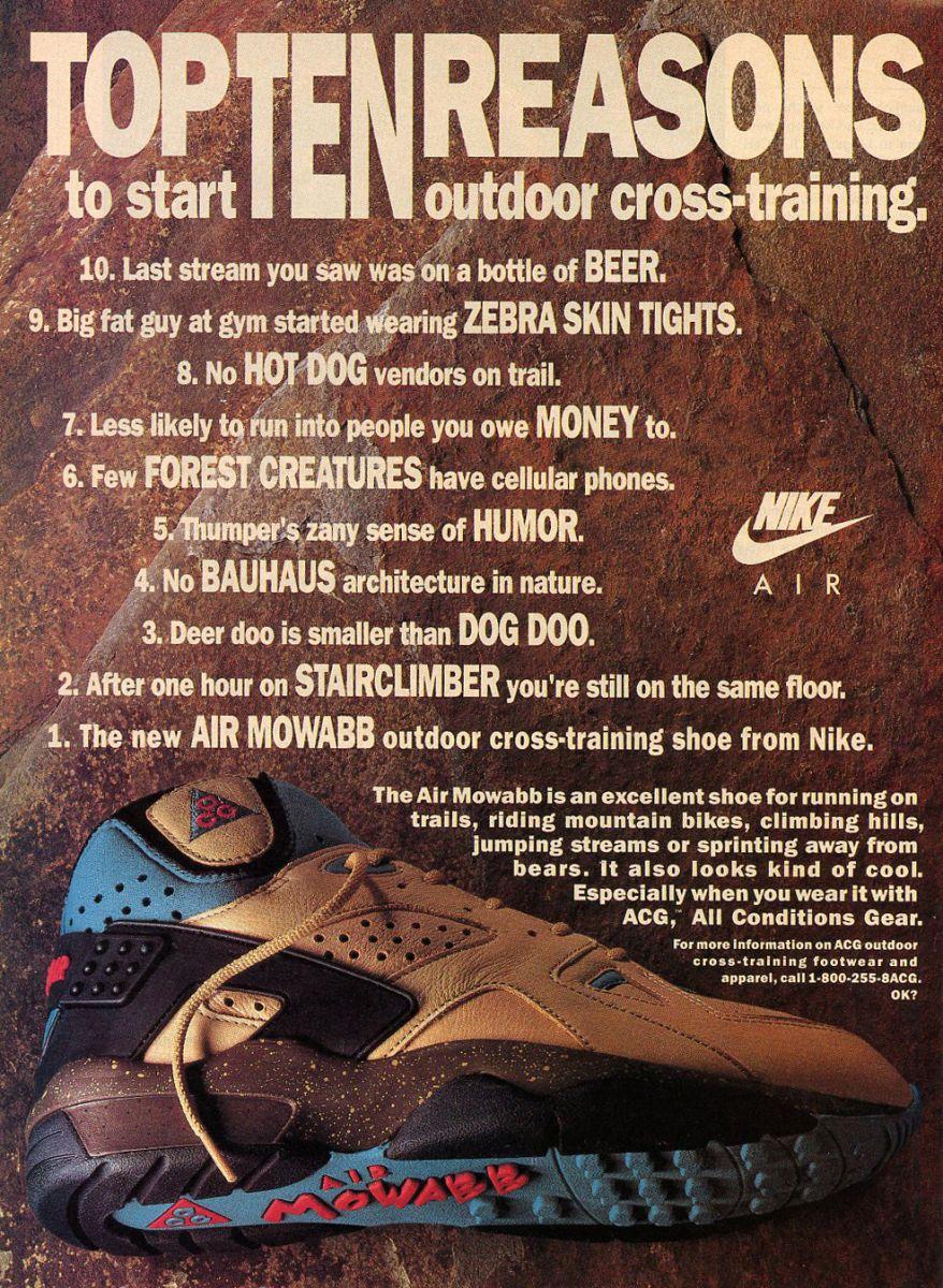 Vintage Ad: Nike Air Mowabb ACG | Sole Collector