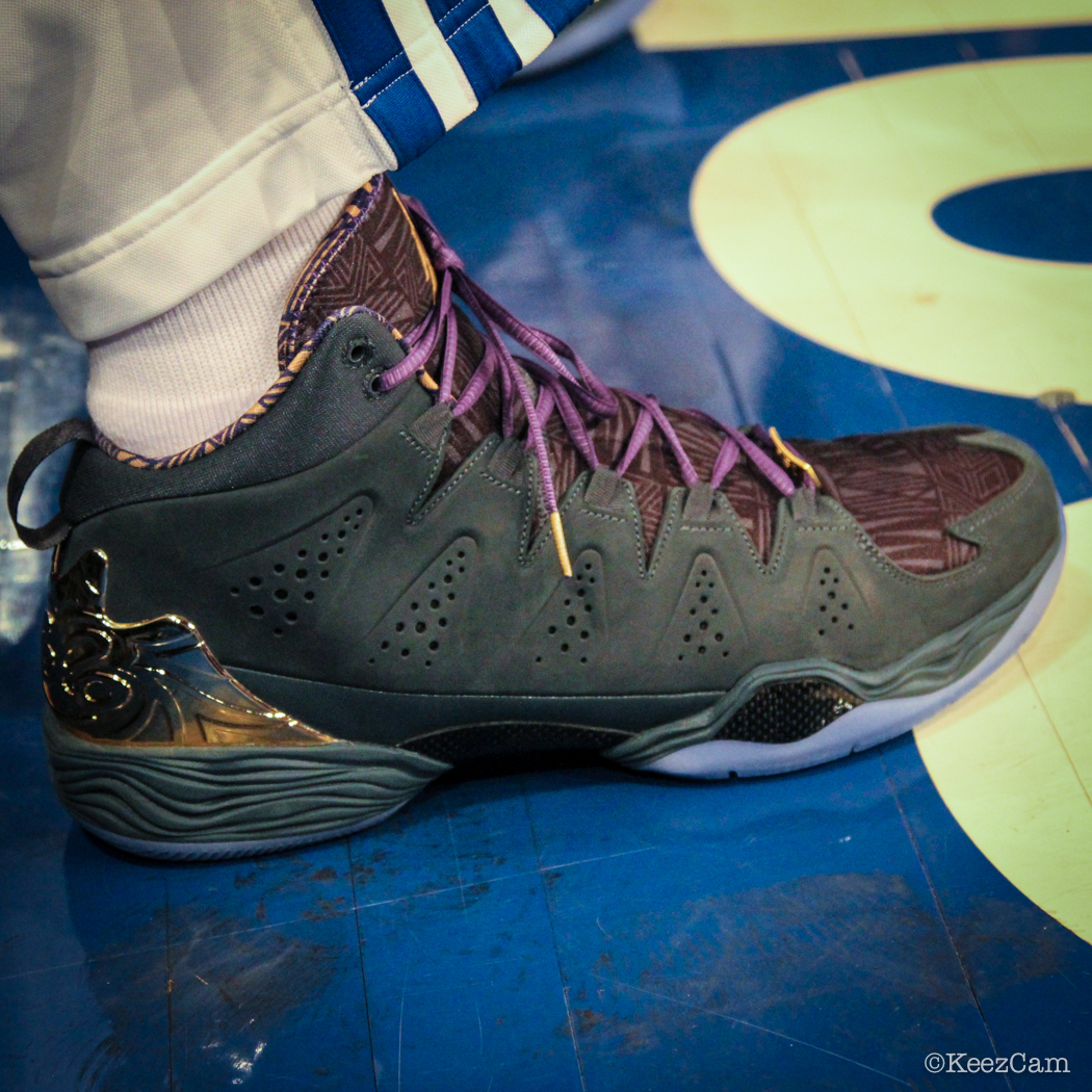 Sole Watch: Up Close At MSG for Knicks vs Nets - Carmelo Anthony wearing Jordan Melo M10 BHM (1)