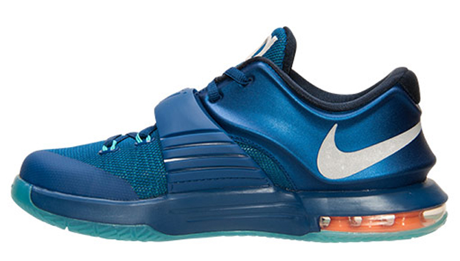 6d08e4ab4a6e Nike KD 7 GS Release Date  05 15 15. Color  Gym Blue Metallic Silver-Light  Retro Style    669942-400. Price   115