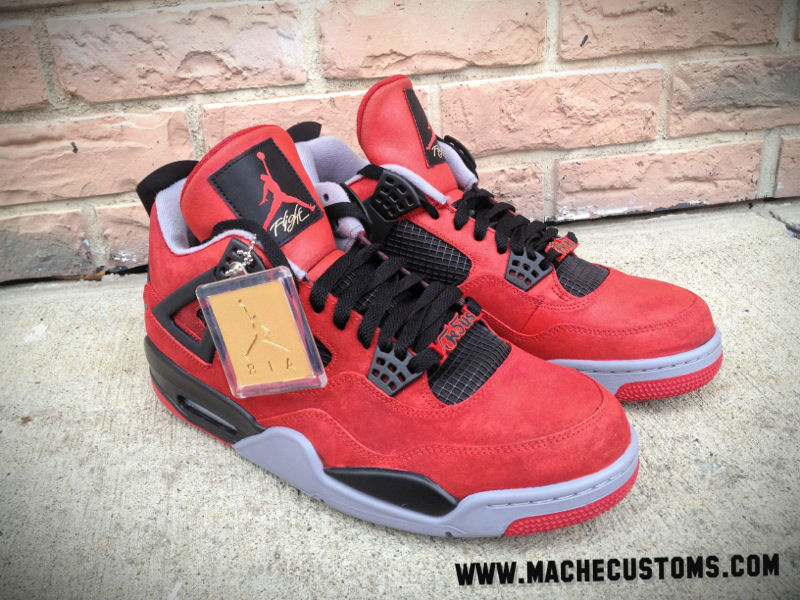 Air Jordan IV 4 Jesus Piece for The Game by Mache Custom Kicks (1)
