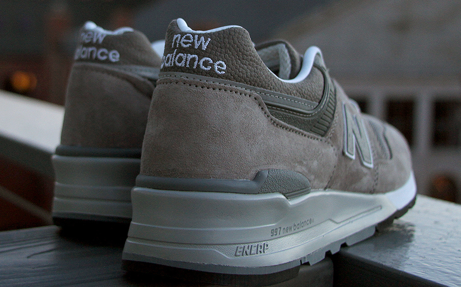 New Balance 997 lateral stitching from Skowhegan Shoe School