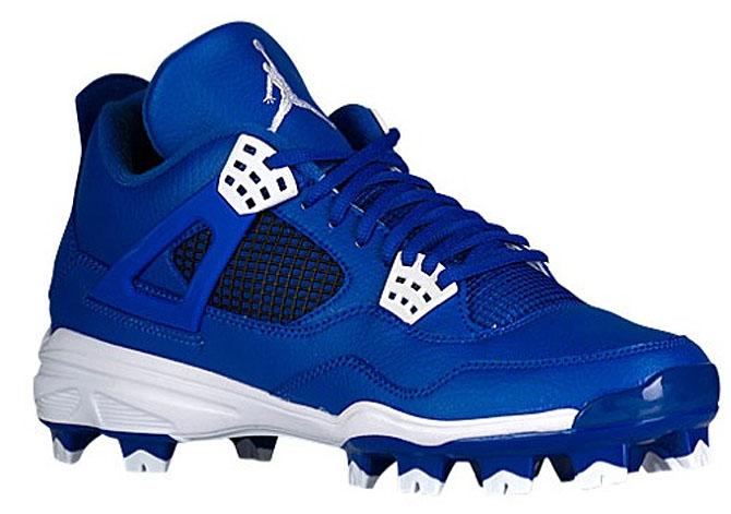 Air Jordan 4 Baseball Cleats Royal Blue
