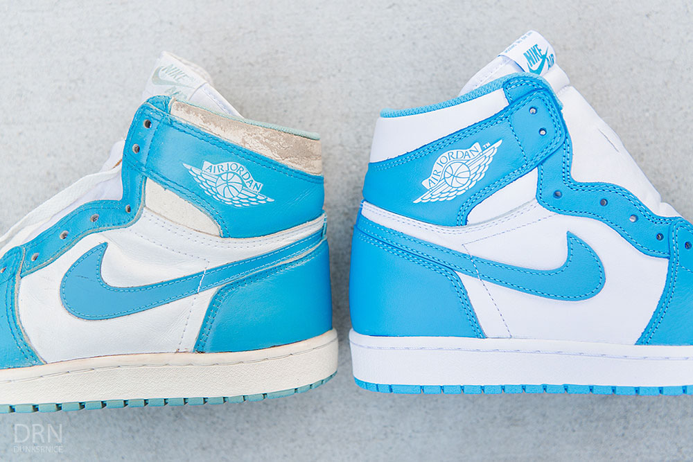9333401b347089 Old School  How the 2015  UNC  Air Jordan 1 Retro Compares to the ...
