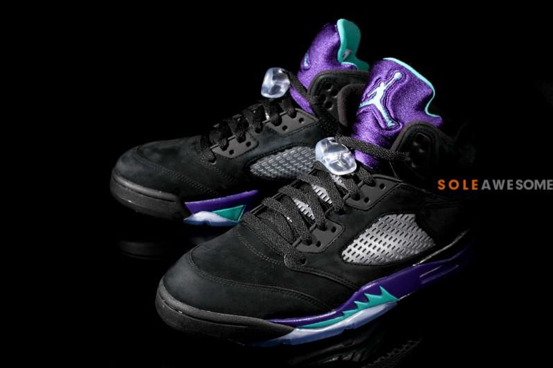 64e4580f59b5 Air Jordan 5 Retro - Black New Emerald-Grape Ice