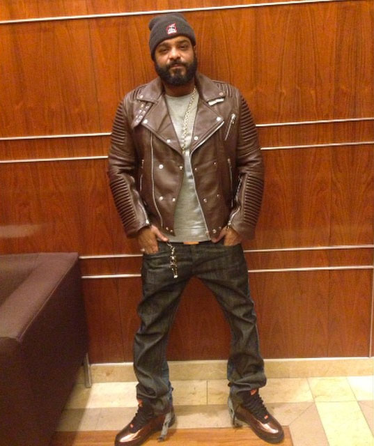 Jim Jones wearing Nike Air Force 1 Foamposite BHM