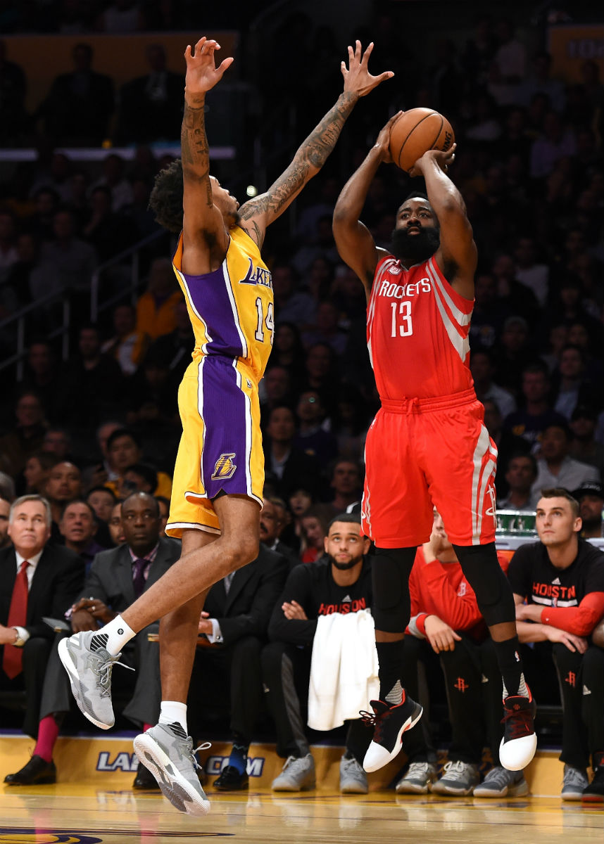 666d9570f99 James Harden Wearing the Pioneer Adidas Harden Vol. 1 (4)