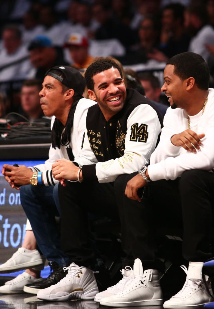 Drake Wearing White 'OVO' Air Jordan 12 (4)