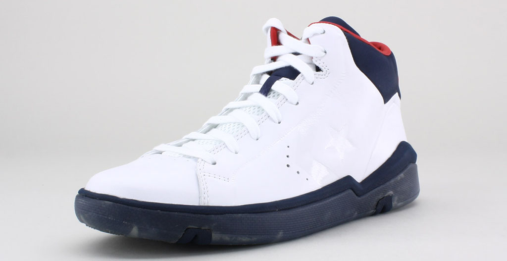 Converse Pro Leather 2012 Mid White Navy Red (2)