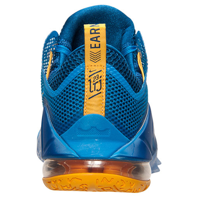 quality design be6c0 3870e A blue and gold LeBron 12 Low.