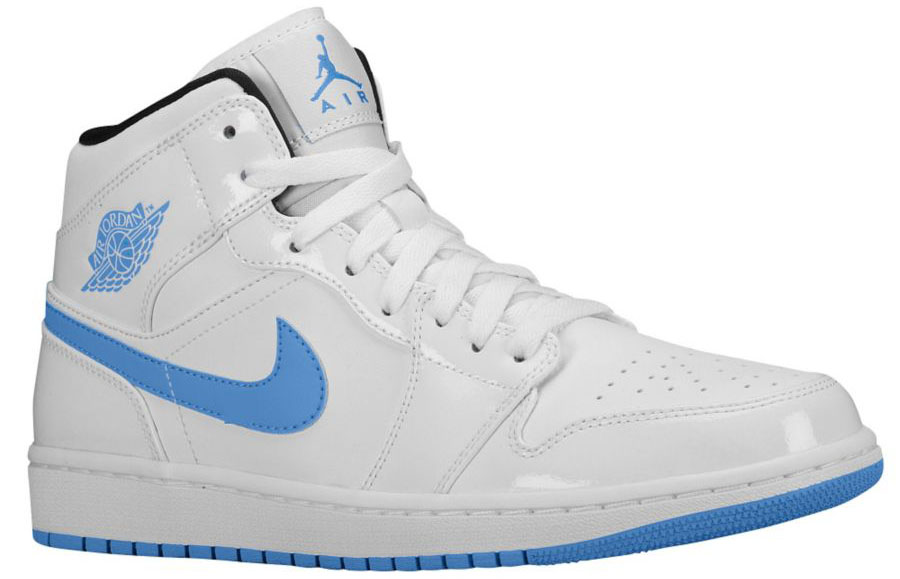 Air Jordan 1 Retro Mid White/Legend Blue Release Date 555724-127