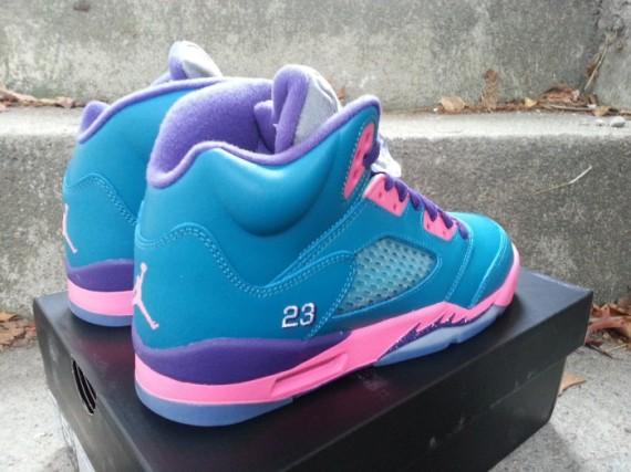 finest selection 4b5bf 37943 Air Jordan 5 Retro GS - Tropical Teal/Club Pink-Purple ...