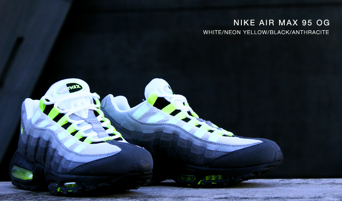 e208c7402c The Nike Air Max 95 OG in White / Neon Yellow / Black / Anthracite will  release this January at Nike Sportswear retailers, including Tokyo's atmos.