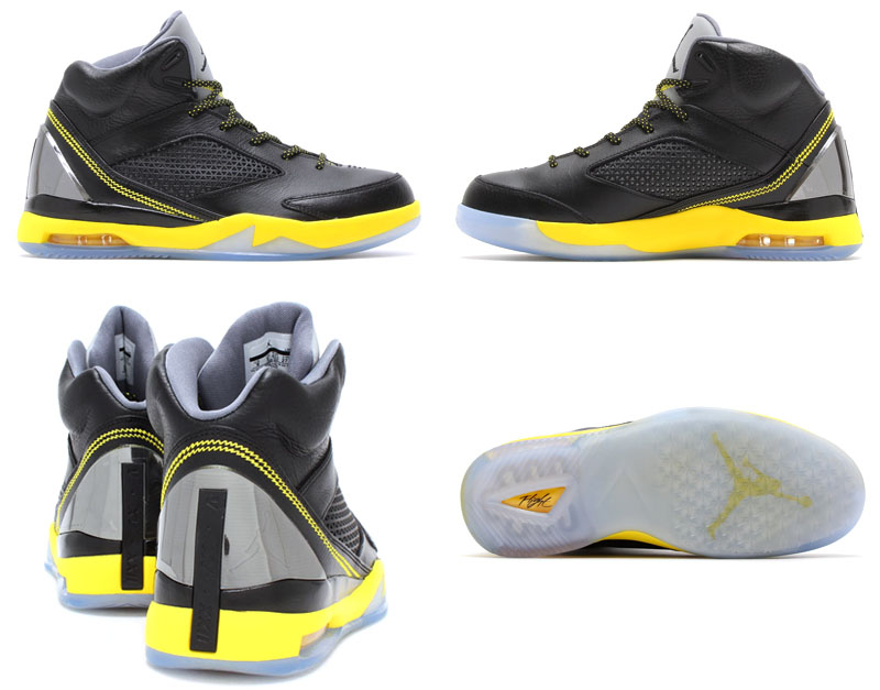 Air Jordan Flight Remix Black/Vibrant Yellow-Cool Grey Release Date 679680-070 (9)