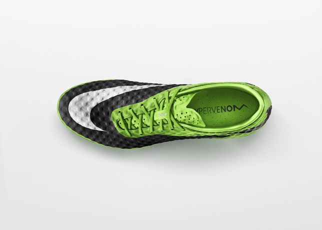 nike hypervenom flash lime colorway top view