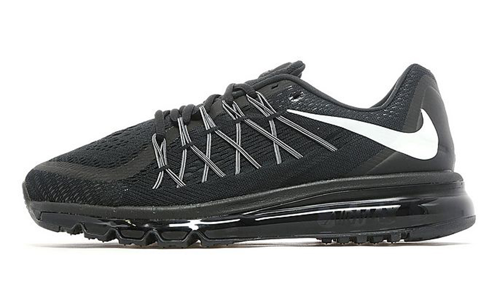 reputable site a32fb bfc3b The  Blackout  Nike Air Max 2015 is available now at select Nike Running  retailers worldwide such as JD Sports.